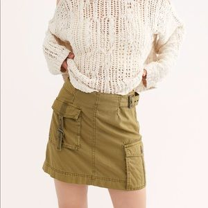 Free People Army Green Skirt